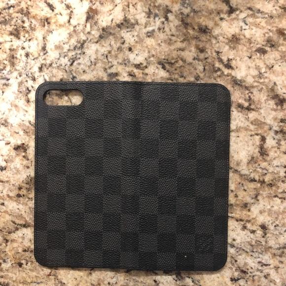 best service 5b7fe 7f48f Louis Vuitton iPhone 7/8 Plus Wallet Case- Damier